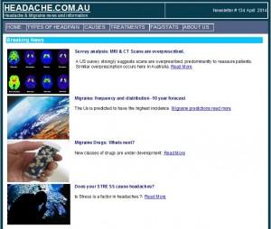 Headache Newsletter April 2014