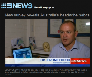 Headache site Survey gets media coverage